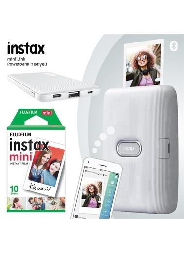 Instax Instax mini Link Beyaz Akıllı Yazıcı - 10'lu mini Film ve Powerbank Hediyeli-FOTSI00110-10-P Renkli